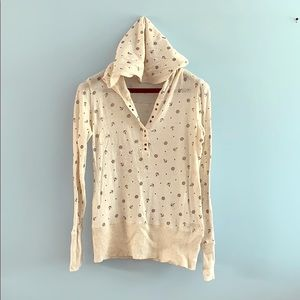 ROXY nautical patterns long sleeve hooded shirt ⚓️